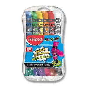 Alltoys Temperové barvy Maped Paint 12 tubx12 ml,plast.box