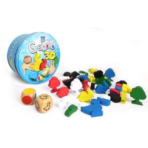 Alltoys Grabolo 3D společenská hra dřevo v plechové krabičce 12x12x6