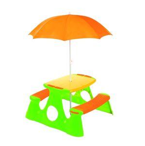 Alltoys Paradiso Piknikový stolek a lavice se slunečníkem