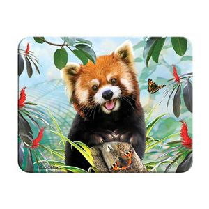 Magnet 3D Panda Červená