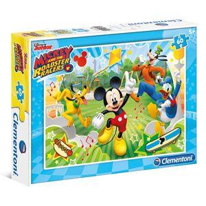 Puzzle 60 dílků Mickey závodník