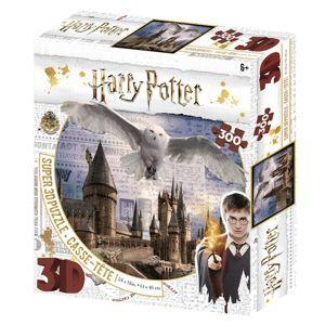 Alltoys Puzzle 3D 300 dílků Harry Potter - Bradavice a Hedwig