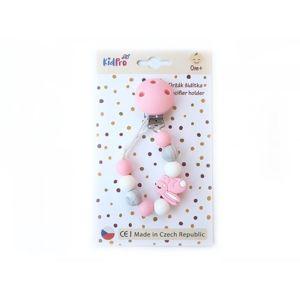 KidPro Klip na dudlík: Zajíček růžový