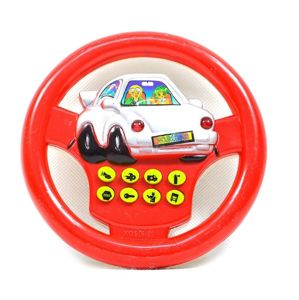 Dětský volant se zvukem - červená