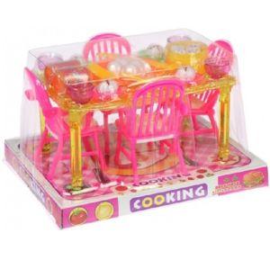 Kuchyňský stůl pro panenky s příslušenstvím