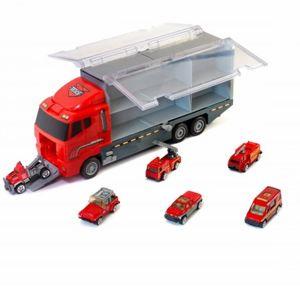 Nákladní auto s hasičskými auty