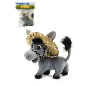 Osel v klobouku - šedá