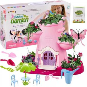 Pohádkový zahradní domek s rostlinami