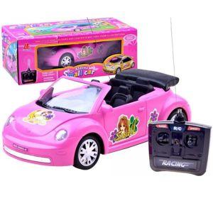 Růžový kabriolet Garbusek R/C - akce: 1 cm puklina na předním skle