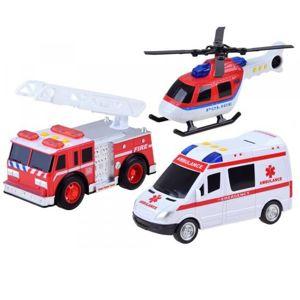 Sada záchranářských vozidel